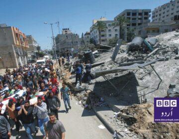 اسرائیلی جیٹ طیاروں کی غزہ پر بمباری جاری، شہداء کی تعداد 140 ہوگئی۔