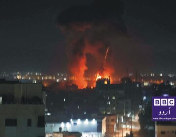 21 مئی کی جنگ بندی کے بعد اسرائیل کی جانب سے ایک بار پھر غزہ پر فزائی حملے۔